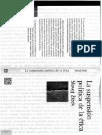 Zizek - La suspensión política de la ètica.pdf