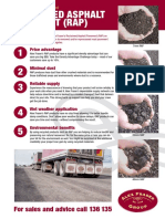 Reclaimed Asphalt Pavement RAP Brochure July 2016