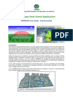 Isla de Calor CHAM PHOENICS Case Study Environmental Prototype Heat Island Application