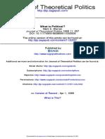 Warren (1999). What is Political (207-231)