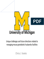 Chriss J. Vowles - Challenges related to managing mouse gnotobiotic husbandry facilities