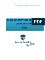 Plan de Gestion de Riesgo Rosa de América 2016 Jonathan