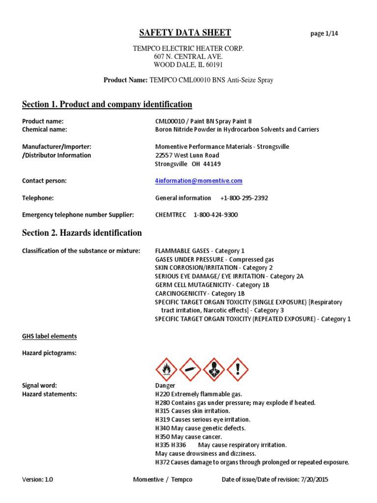 SDS-0039 | Toxicity | Dangerous Goods