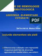 Curs 2 - Leziunile Elementare Cutanate