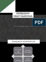 Kebijakan Obat Nasional