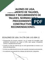 CURSO TERRACERIAS 2015 Tema 05 Escalones de Liga Taludes Bermas