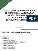 CURSO TERRACERIAS 2015 Tema 06 Procedimientos Constructivos