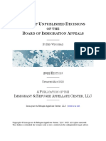 Index of Unpublished Decisions of the Board of Immigration Appeals (2019 ed.)