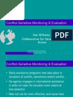 Conflict-Sensitive Monitoring & Evaluation