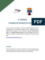 Bases II Torneo Ciudad de Roquetas de Mar