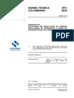 NTC3949 Estaciones de Regulacion de Presion