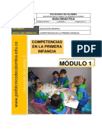 Guia Didactica 1 Competencias en La Primera Infancia
