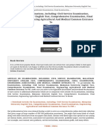 Articles on Examinations Including Civil Service Book