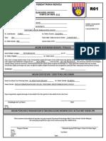 Borang Pendaftaran R01 Terkini