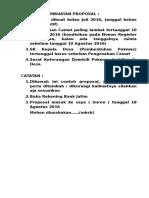 Proposal Ijin Menggunakan Berem Dusun Gumukbanji