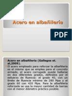 Velasquez Bravo, Abel Acero en Albañileria