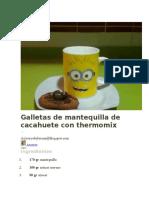 Galletas de Mantequilla de Cacahuete Con Thermomix