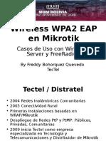 Mikrotik Wireless WPA2 EAP PTP