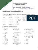 Guía de Ecuaciones Exponenciales y Logarítmicas Temas 5