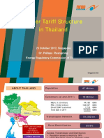 Power Tariff Structure in Thailand