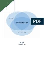 2016 Productivity Planner