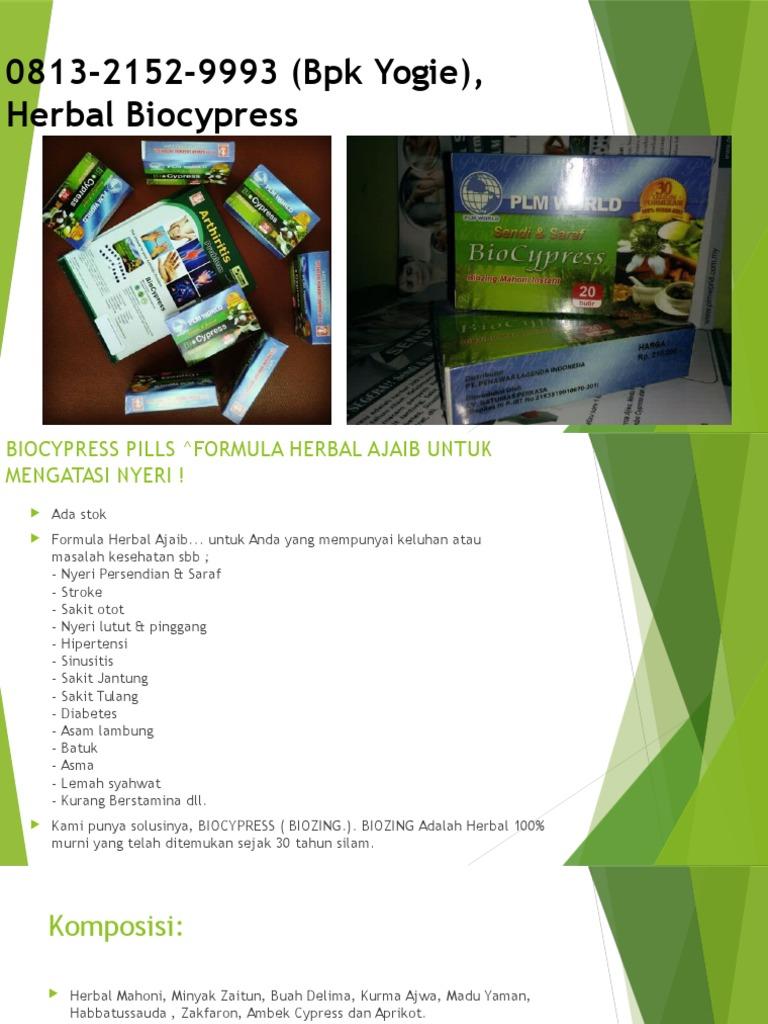 0813 2152 9993bpk Yogie Herbal Biocypress Yogyakarta 20 Pil