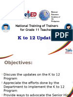 K to 12 Program Updates