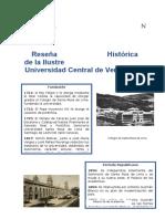 Reseña Historica UCV