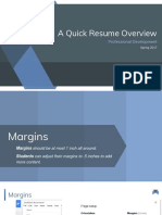 A Quick Resume Overview