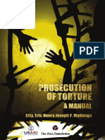 Manual on the Prosecution of Torture