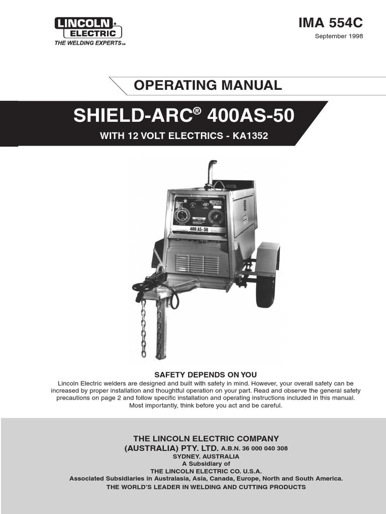 400as 50 Welding Internal Combustion Engine Lincoln Arc Welder Wiring Diagram
