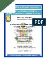 Dossier Crema Cosmética Eye Serum Anti-fatigue