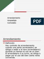 """Arrendamiento Hospedaje Comodato """"Derecho y Ciencias Politicas"""""""
