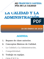 2. La Calidad y La Administración