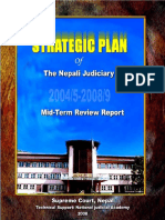 Mid Term Review Report - Strategic Plan 2004-2008 - Nepali Judiciary