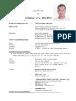 Manolito g. Bicera