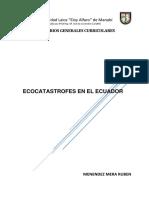 Ecocatastrofes en El Ecuador