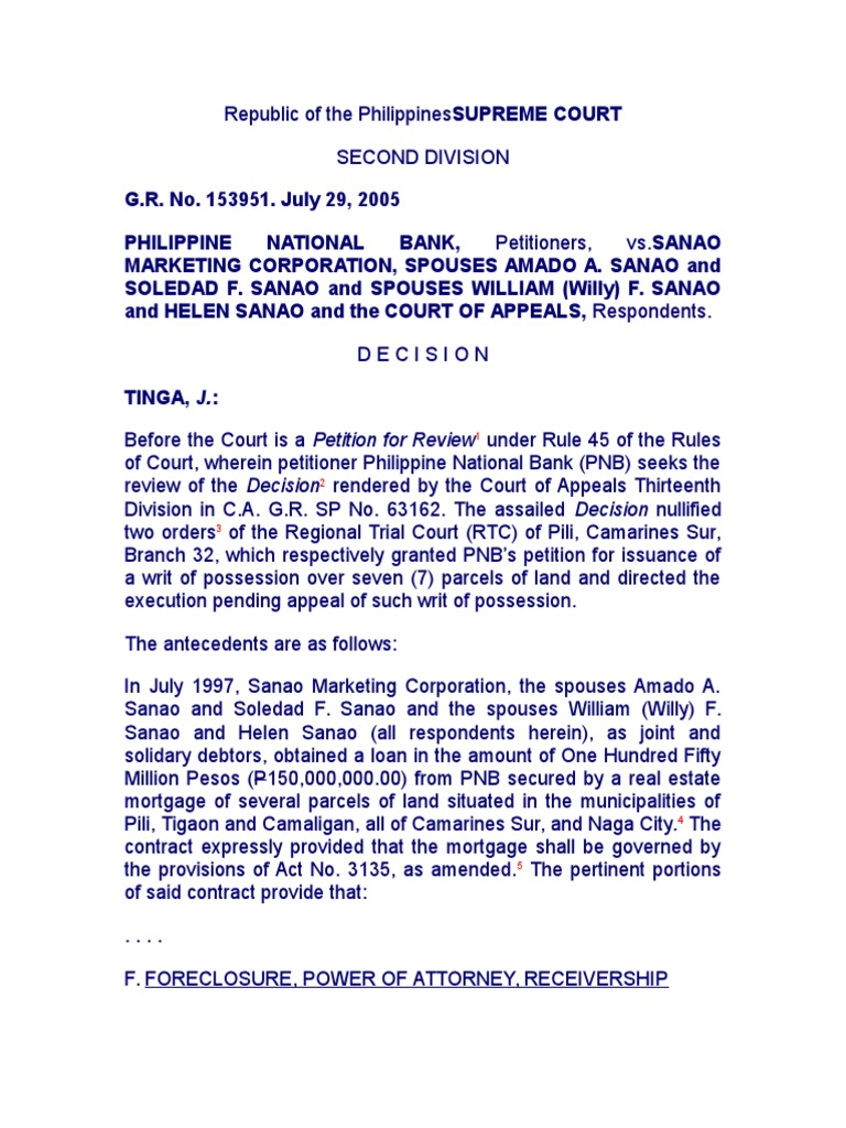 Writ of Possession Juris | Mortgage Law | Foreclosure