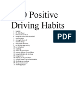 20 Positive Driving Habits