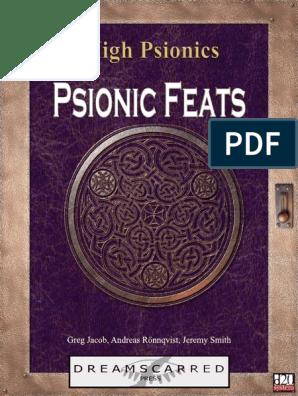 Psionic Feats: Hi gh Psi oni cs