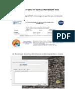 uso de la base de datos solar de la nasa