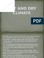 Hot and Dry Climate