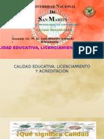 CALIDAD EDUCATIVA, LICENCIAMIENTO.pptx