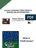 Kuliah Langkah Tepat Untuk Sukses Dalam Kehidupan
