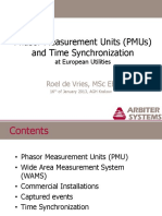 Phasor Measurement Units (PMUs) and Time Synchronization
