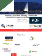 Geneva Application Security Forum 2010 Vers Une Authentification Plus Forte Dans Les Applications Web(2)