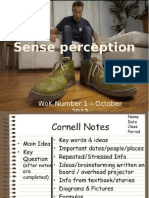 sense perception lecture