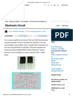 A1943 C5200 Power Amplifier Circuit - Electronic Circuit