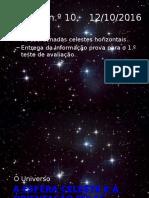 A Esfera Celeste e a Orientação Pelas Estrelas