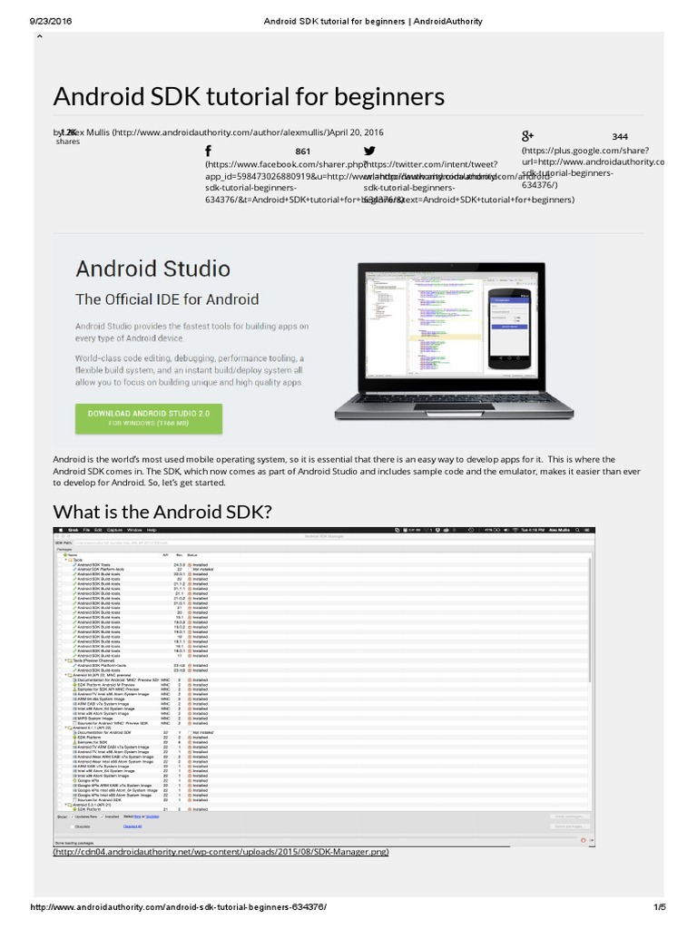android development tutorial for beginners pdf free download